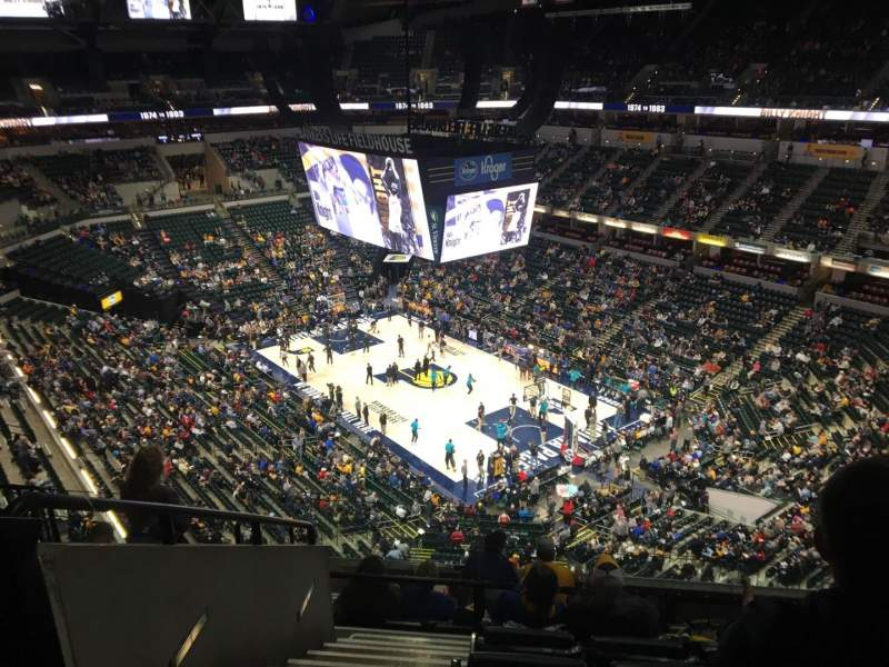 Seating view for Bankers Life Fieldhouse Section 220 Row 8 Seat 18