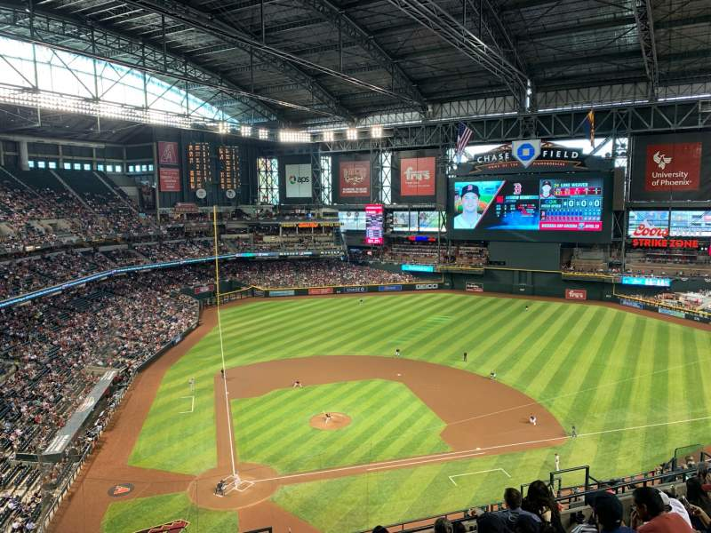 Seating view for Chase Field Section 312 Row 14 Seat 17