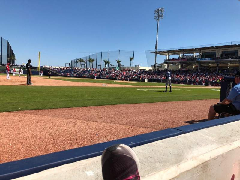 Seating view for FITTEAM Ballpark of the Palm Beaches Section 102 Row A Seat 8
