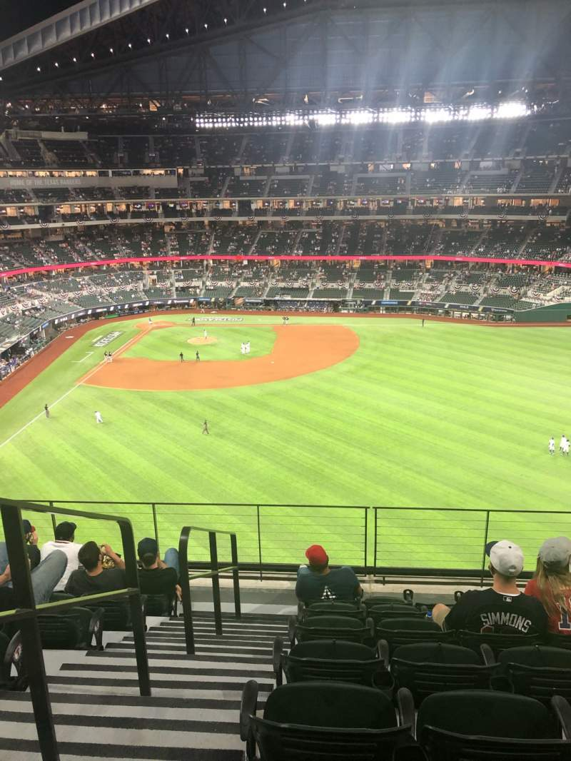 Seating view for Globe Life Field Section 235 Row 7 Seat 1