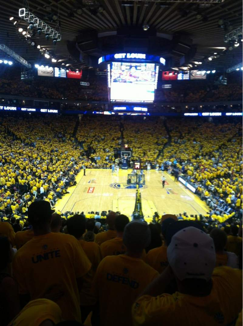 Seating view for Oracle Arena Section 108 Row 24 Seat 4