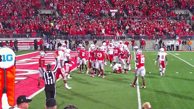 Seating view for Ohio Stadium Section 15AA Row 1 Seat 1