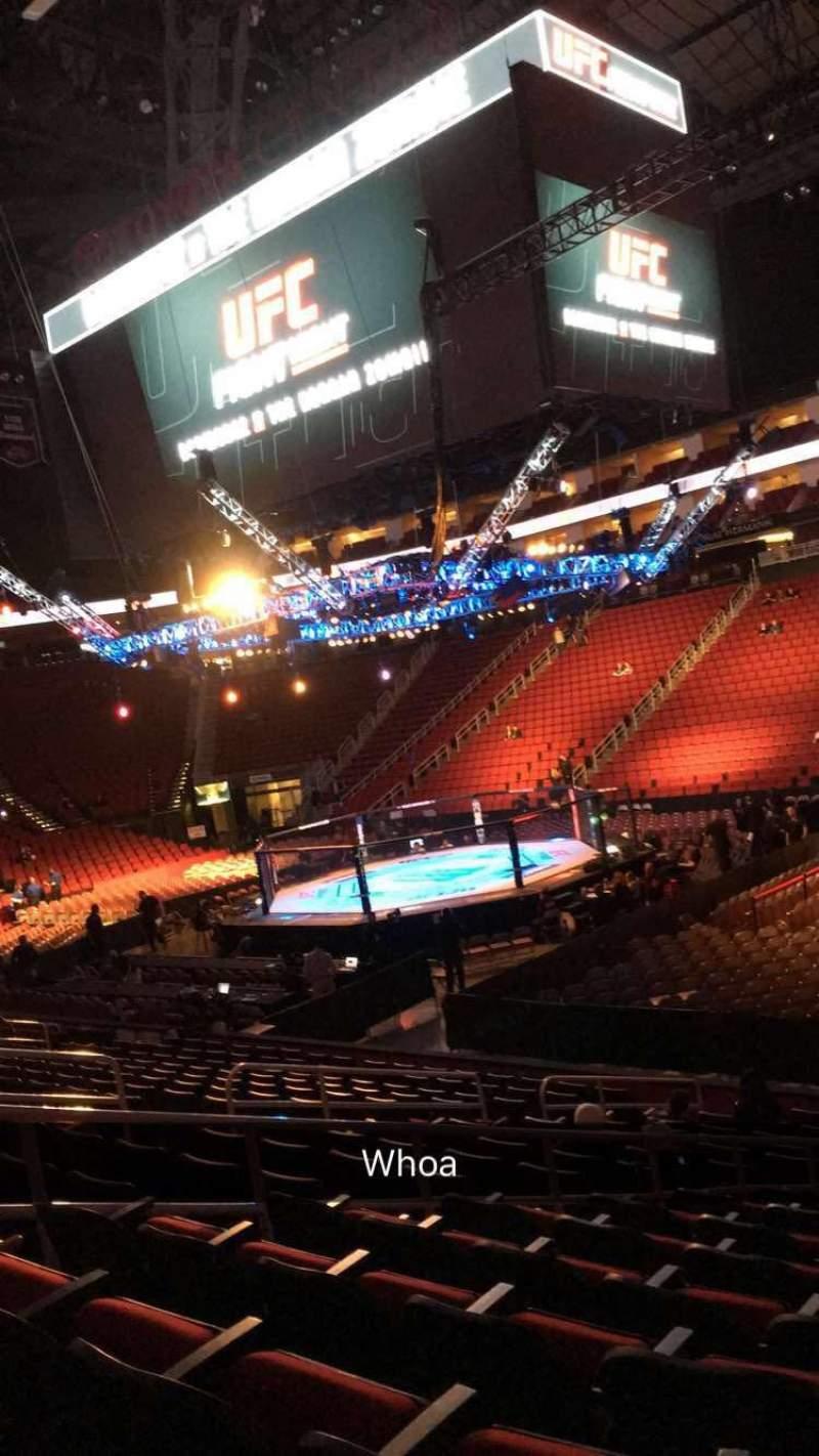 Toyota Center, section 104, row 15, seat 4 - bermudez vs ...