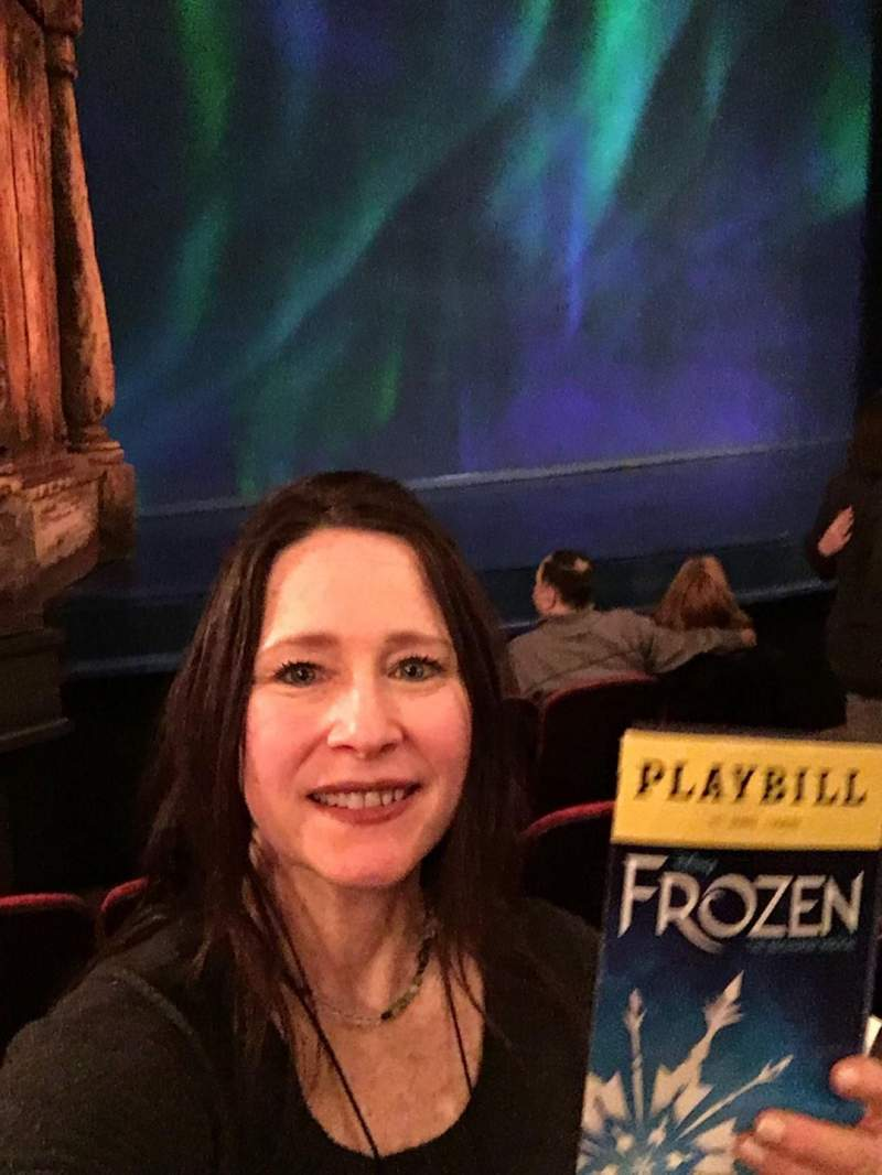 Seating view for St. James Theatre Section Orchestra L Row D Seat 13