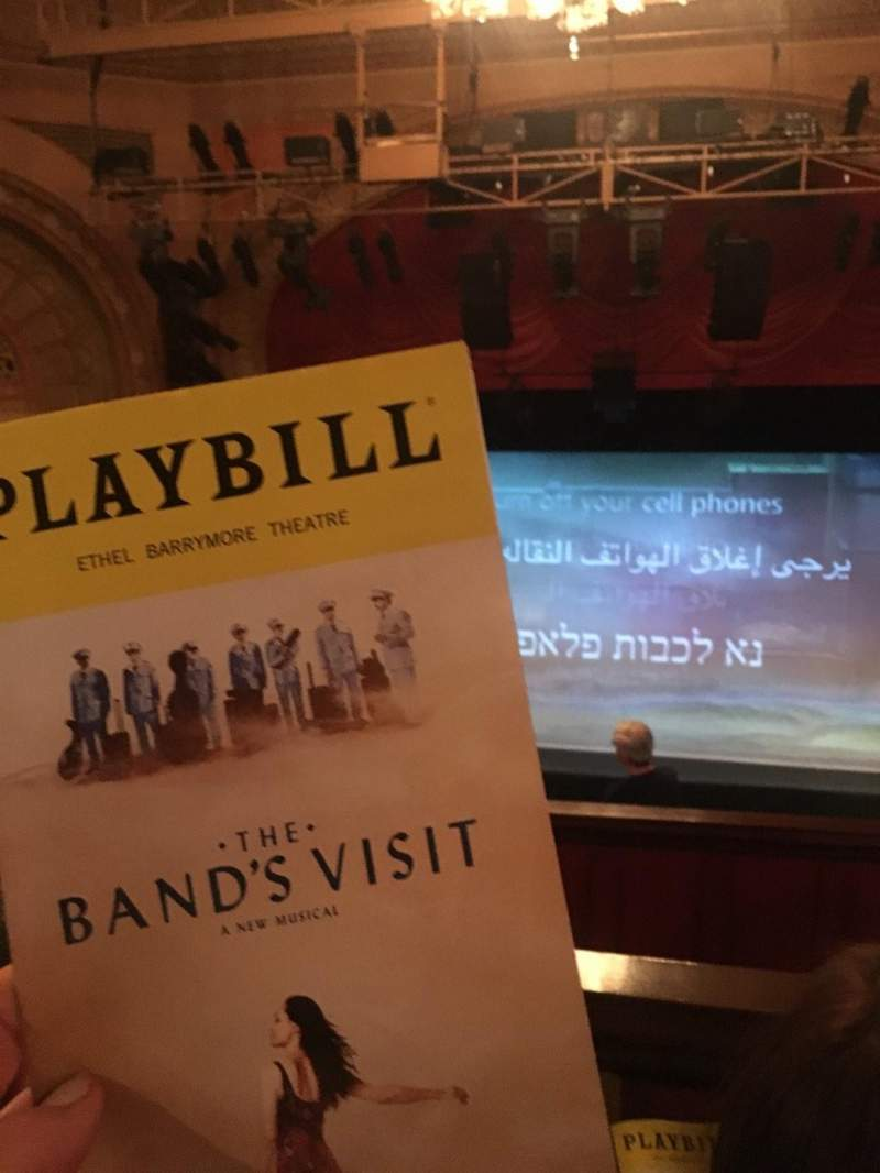 Seating view for Ethel Barrymore Theatre Section Rear Mezzanine C Row F Seat 109