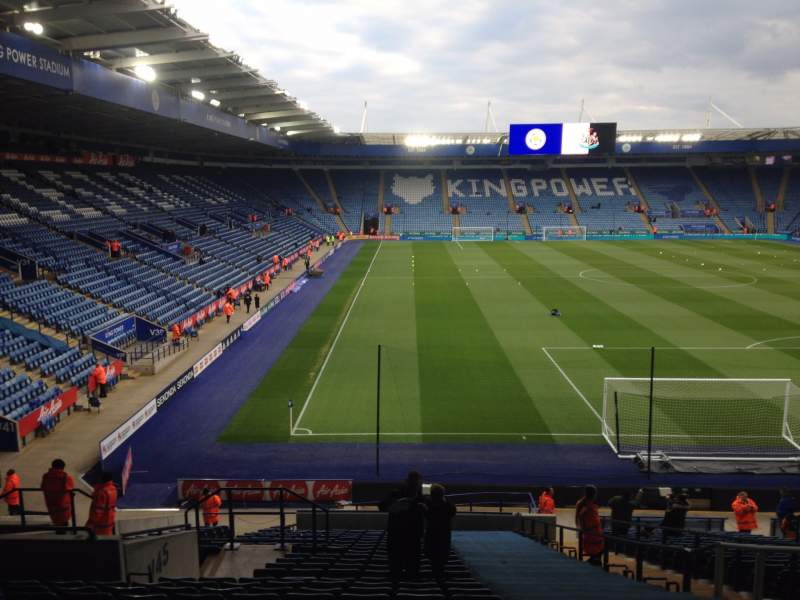 Seating view for King Power Stadium Section Away stand Row DD Seat 28
