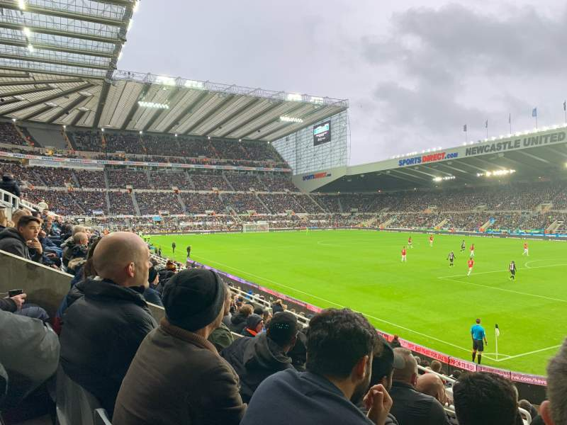 Seating view for St James' Park Section Gallowgate West Row QQ Seat 30