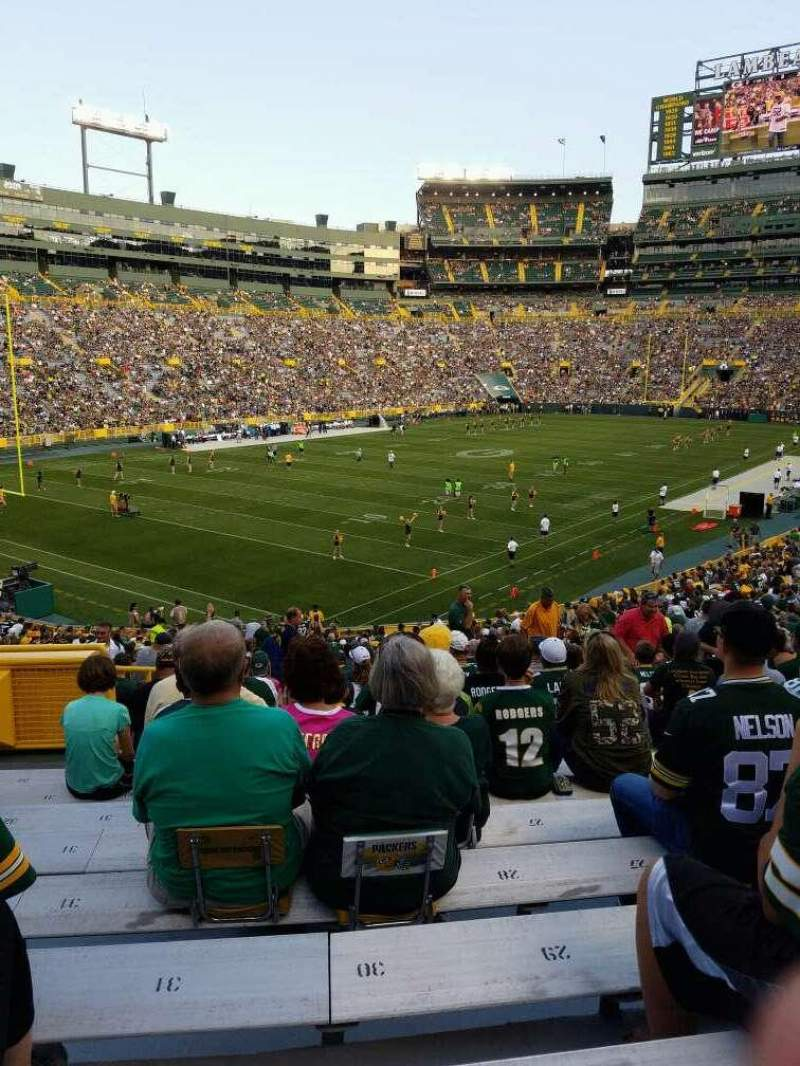 Seating view for Lambeau Field Section 108 Row 38 Seat 35