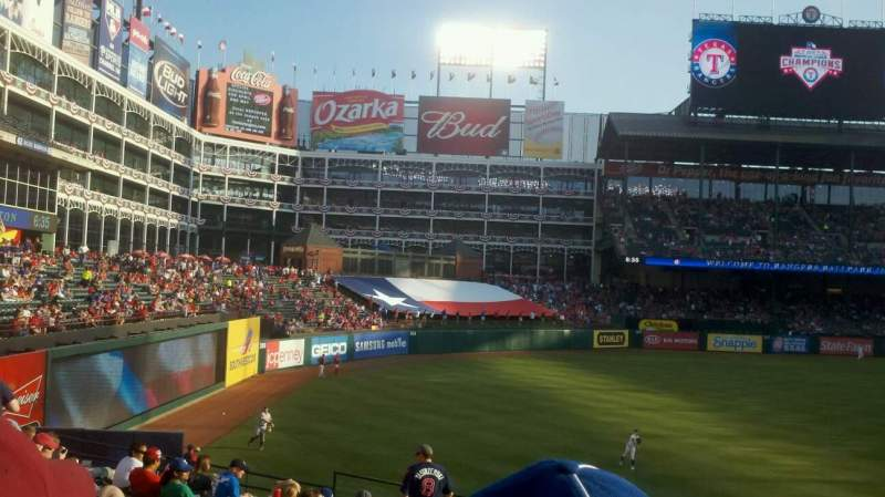 Seating view for Globe Life Park in Arlington Section 11 Row 25 Seat 14