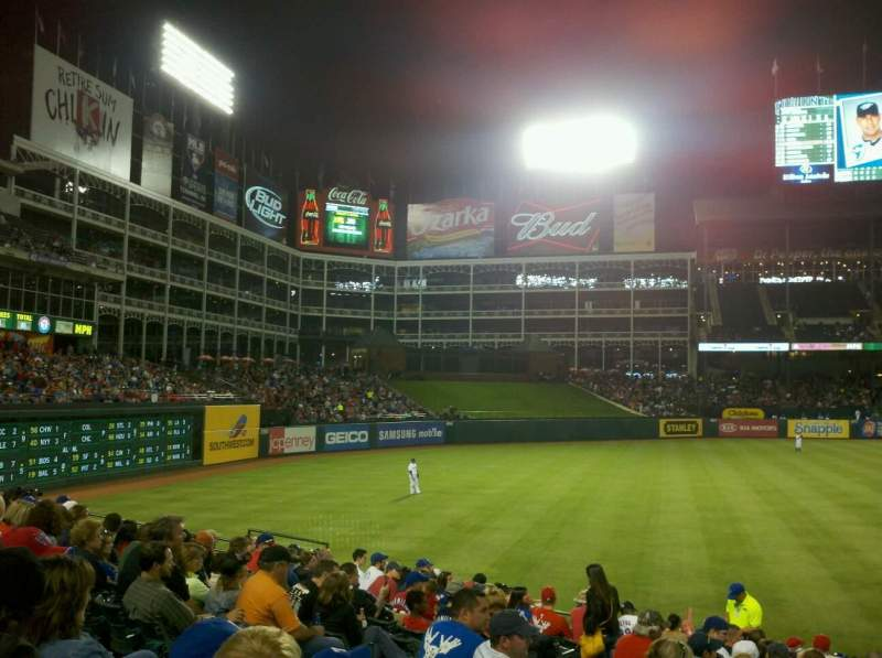 Seating view for Globe Life Park in Arlington Section 13 Row 9 Seat 7