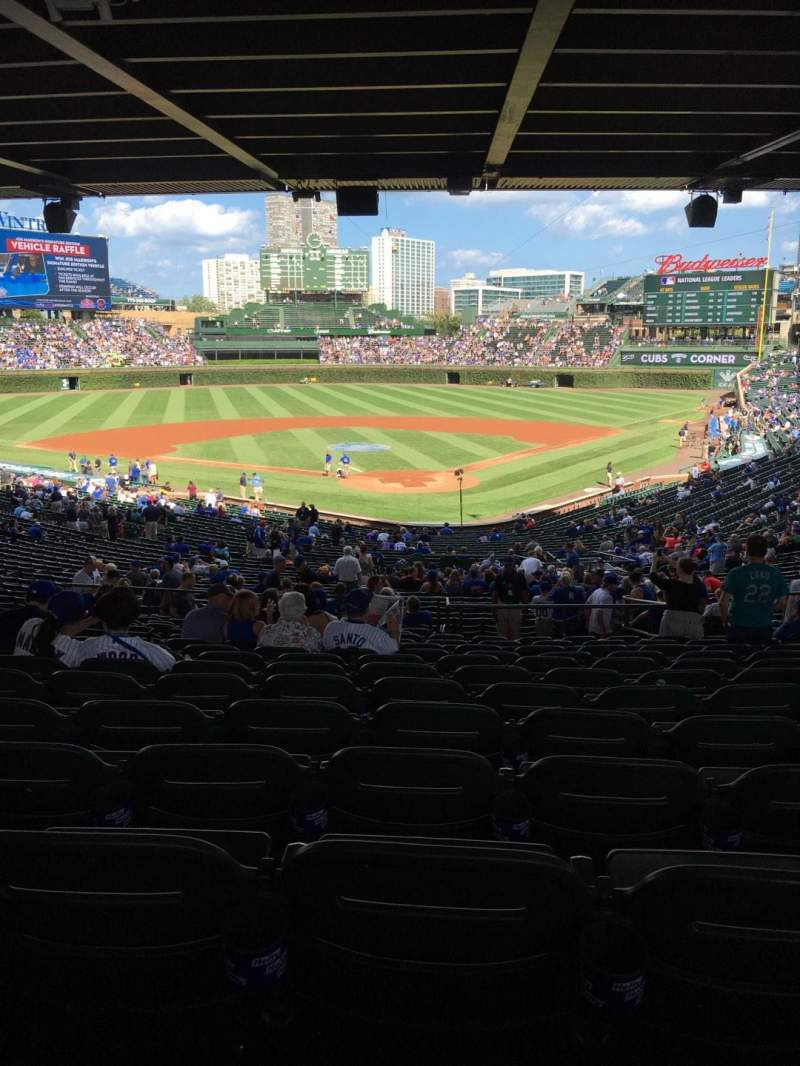 Seating view for Wrigley Field Section 219 Row 16 Seat 110