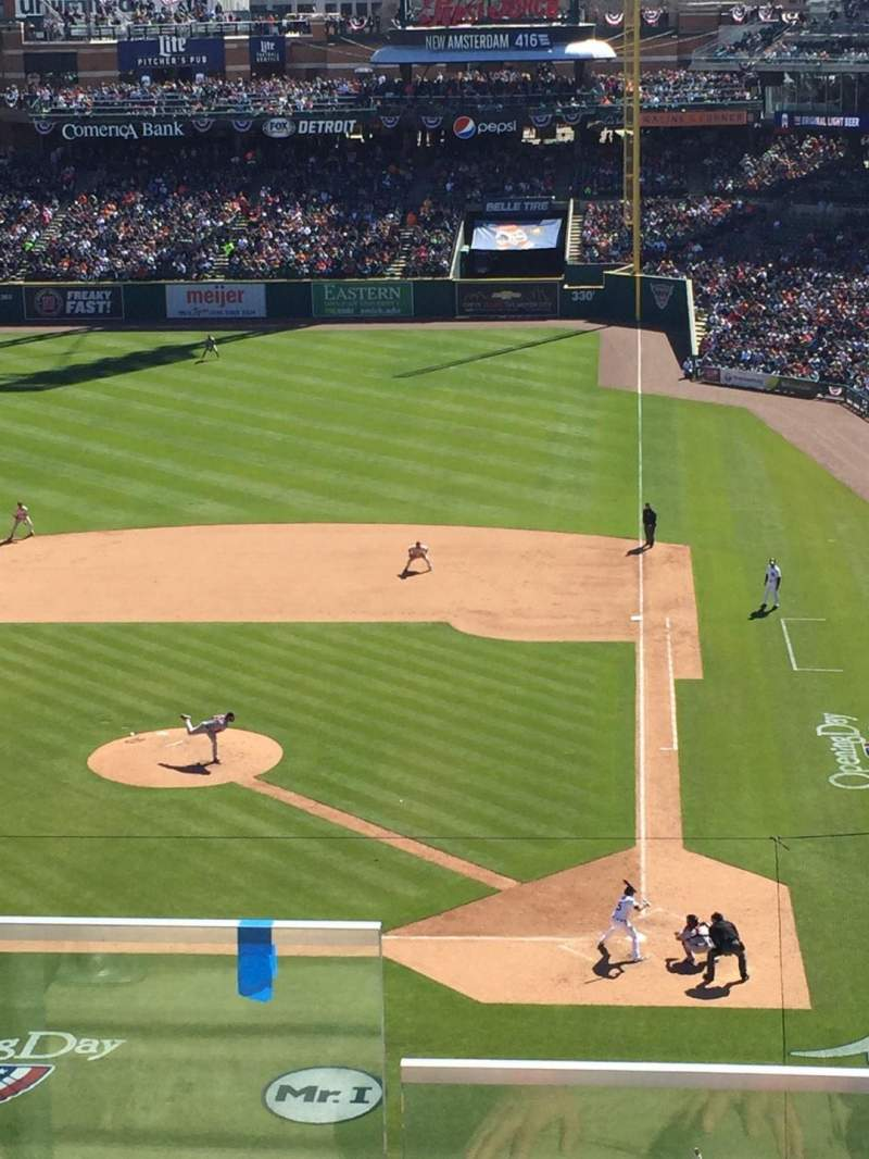 Seating view for Comerica Park Section 331 Row C Seat 17