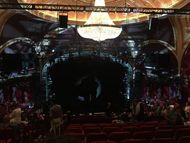 Seating view for Broadway Theatre - 53rd Street Section RMEZZ Row K Seat 103