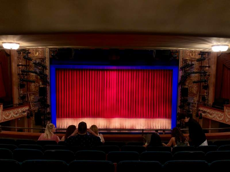 Seating view for Longacre Theatre Section Mezzanine C Row G Seat 107