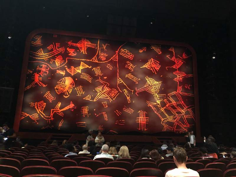 Seating view for Minskoff Theatre Section Orchestra C Row O Seat 112