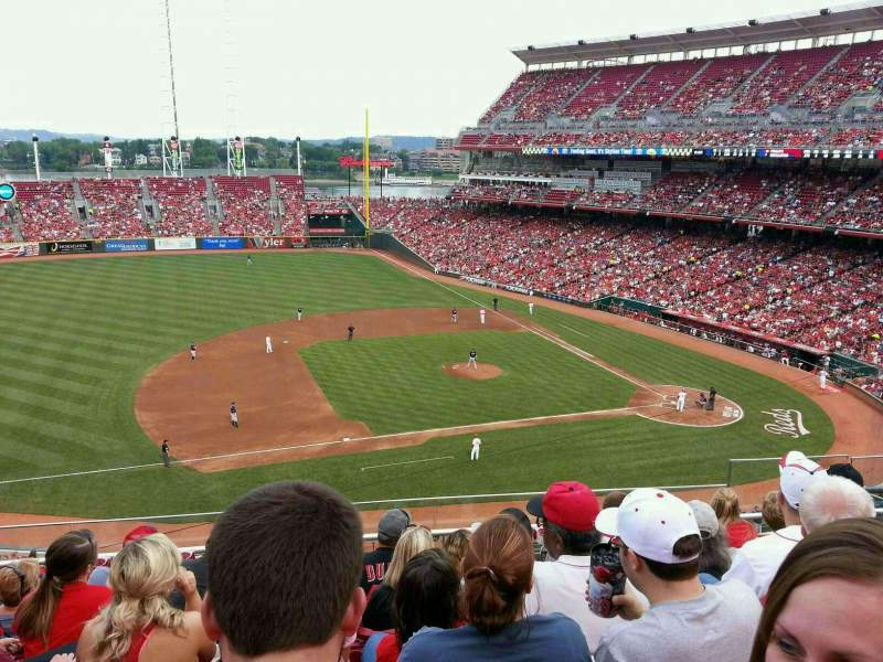 Seating view for Great American Ball Park Section 416 Row F Seat 7