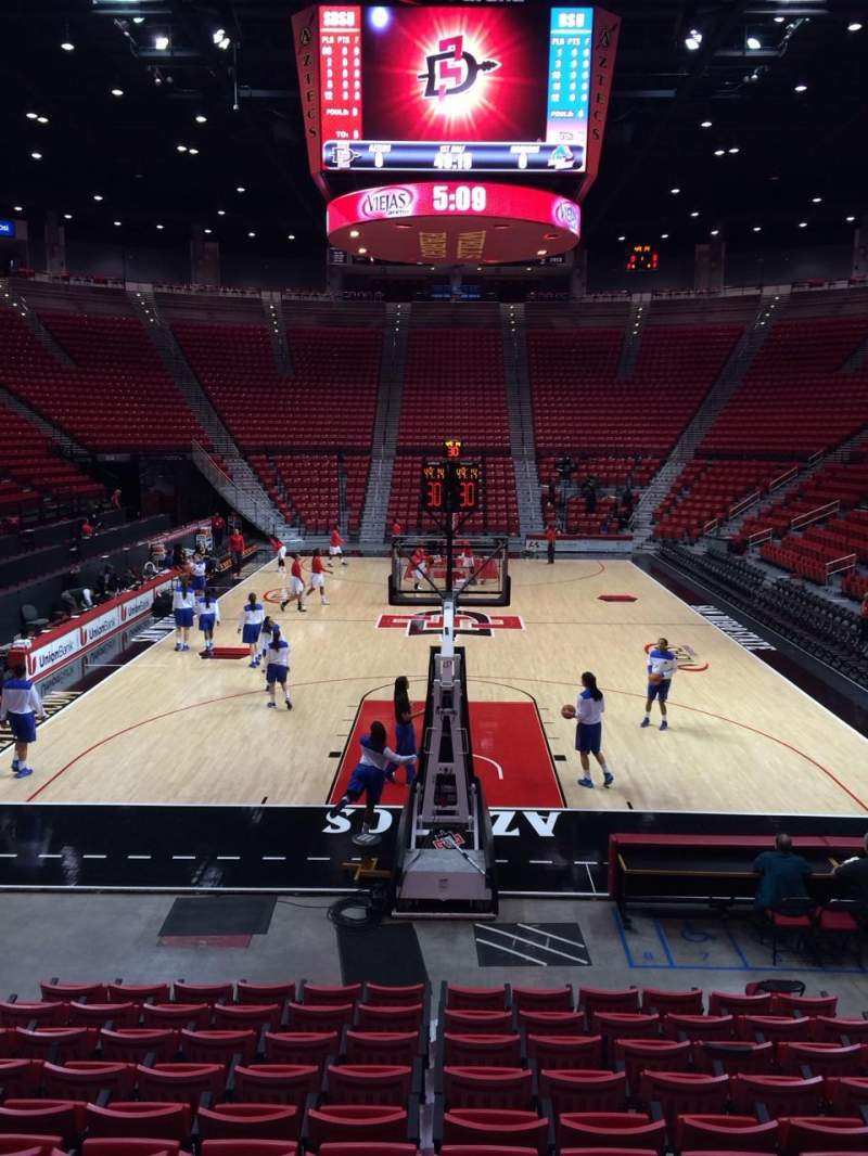 Seating view for Viejas Arena Section A Row 10 Seat 8