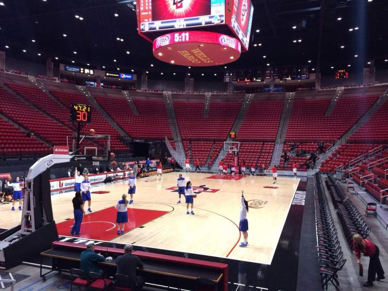 Seating view for Viejas Arena Section B Row 7 Seat 4