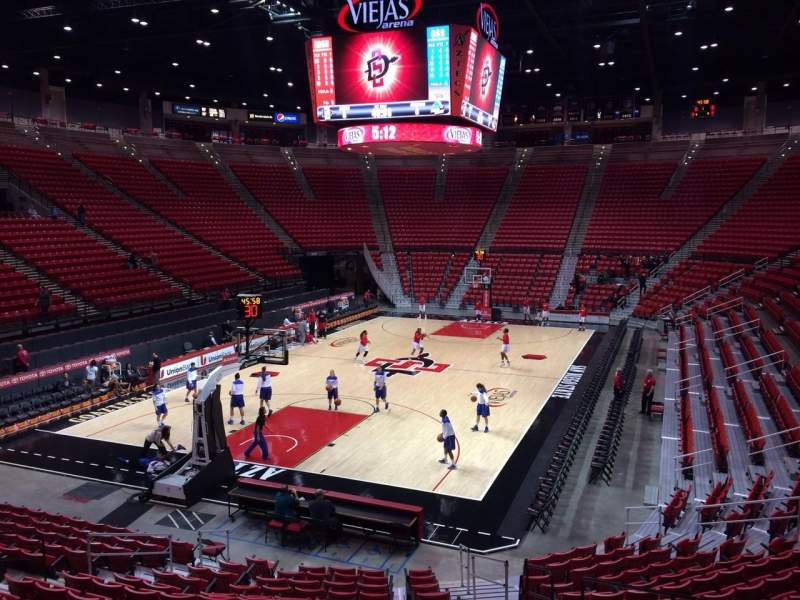 Seating view for Viejas Arena Section B Row 16 Seat 5