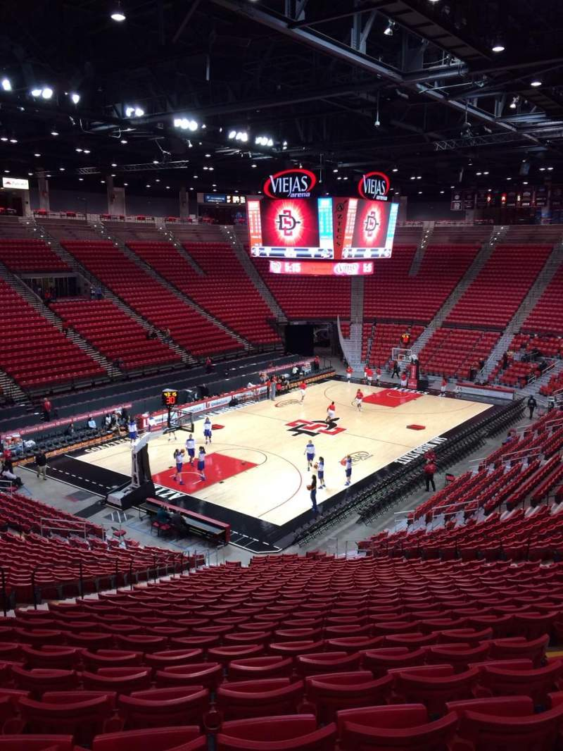 Seating view for Viejas Arena Section C Row 28 Seat 20