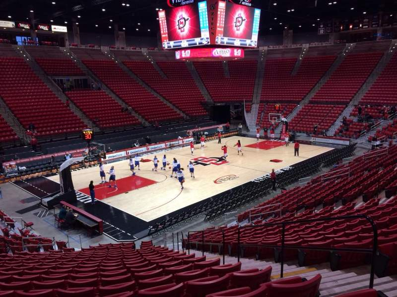 Seating view for Viejas Arena Section C Row 20 Seat 4