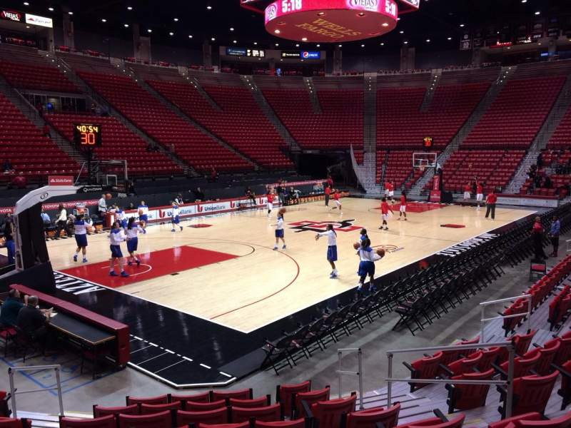 Seating view for Viejas Arena Section C Row 6 Seat 4