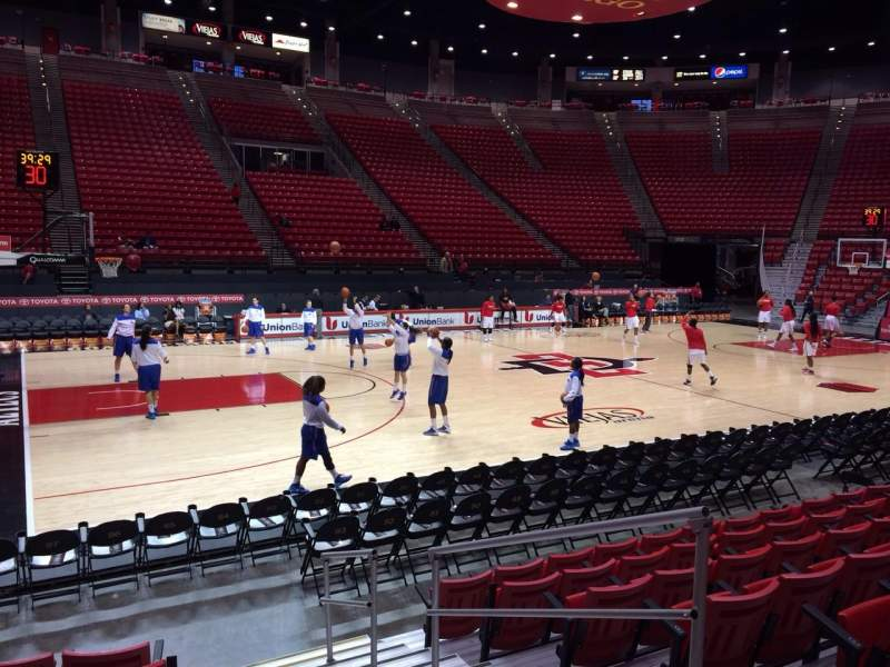 Seating view for Viejas Arena Section D Row 7 Seat 4