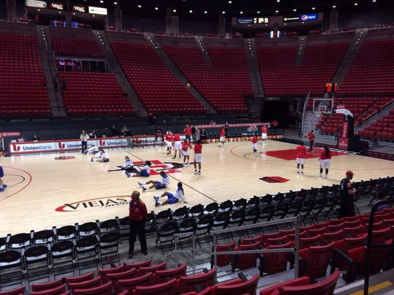 Seating view for Viejas Arena Section E Row 8 Seat 5