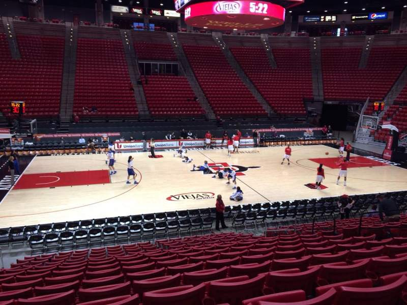 Seating view for Viejas Arena Section E Row 15 Seat 10