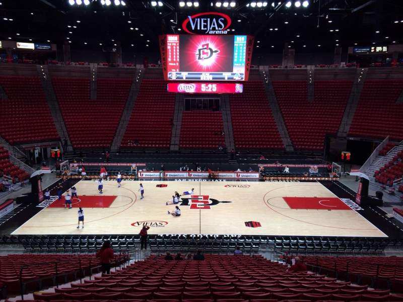 Seating view for Viejas Arena Section F Row 25 Seat 8