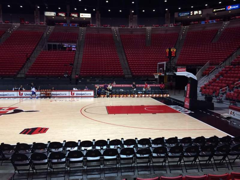 Seating view for Viejas Arena Section G Row 6 Seat 9
