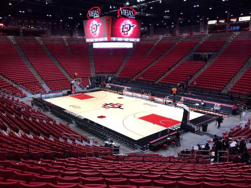 Seat View Reviews From Viejas Arena Home Of San Diego State Aztecs