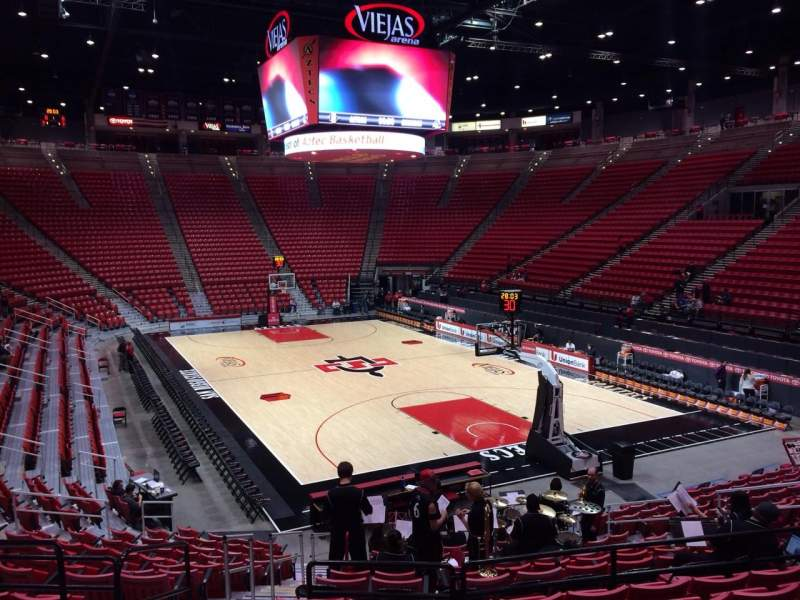 Seating view for Viejas Arena Section K Row 17 Seat 19