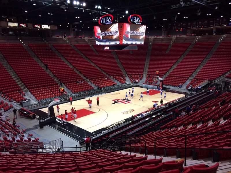 Seating view for Viejas Arena Section N Row 25 Seat 5