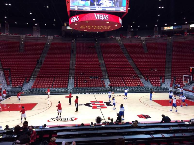 Seating view for Viejas Arena Section R Row 13 Seat 12