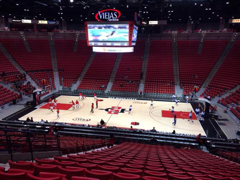 Seating view for Viejas Arena Section S Row 28 Seat 9