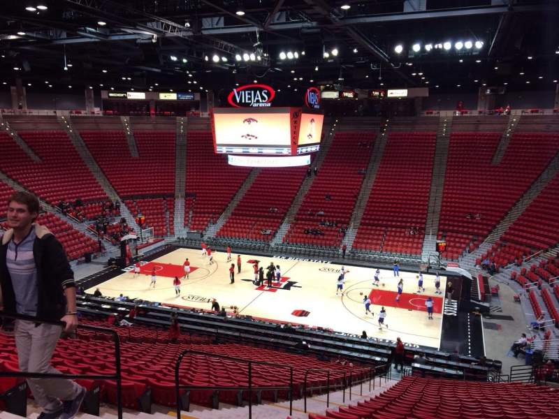 Seating view for Viejas Arena Section T Row 32 Seat 29
