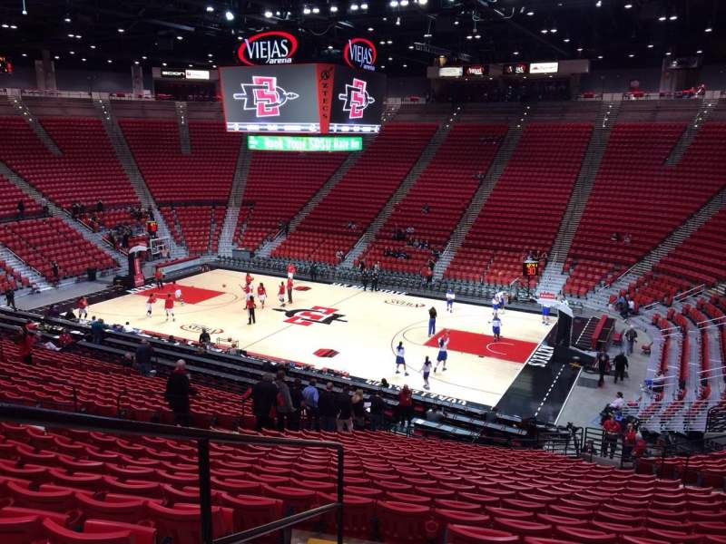 Viejas Arena, section: T, row: 27, seat: 13