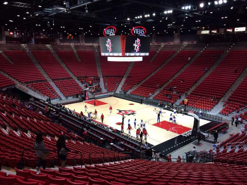 Seating view for Viejas Arena Section U Row 28 Seat 20