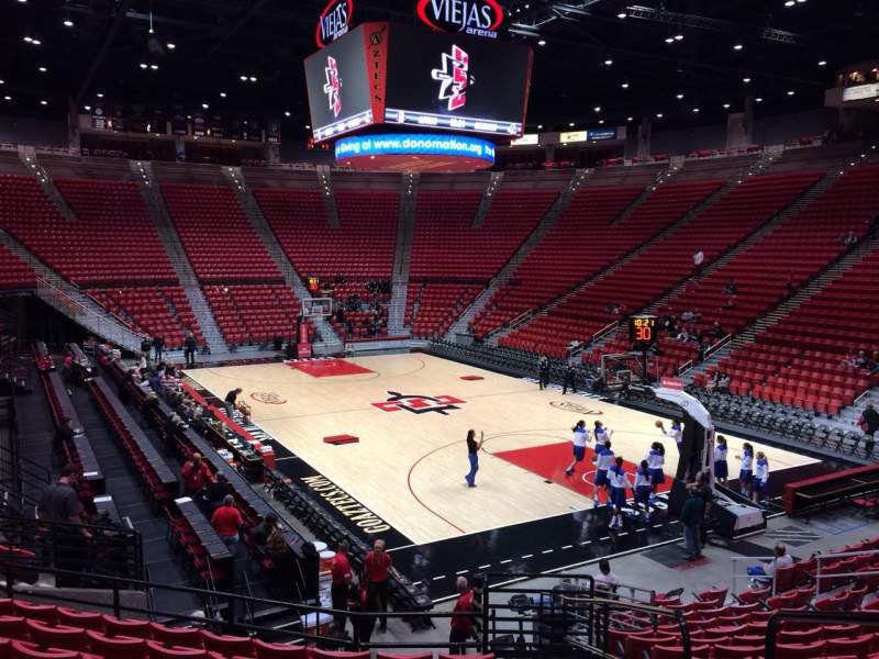 Seating view for Viejas Arena Section U Row 16 Seat 1
