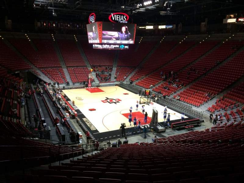 Seating view for Viejas Arena Section V Row 26 Seat 22