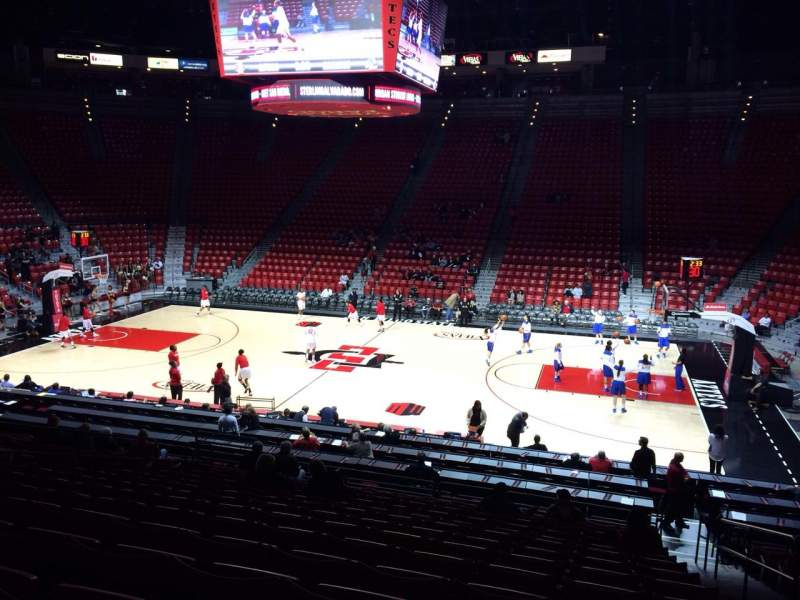 Viejas Arena, section: S, row: 19, seat: 2