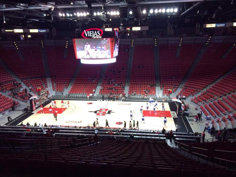 Seating view for Viejas Arena Section S Row 35 Seat 5