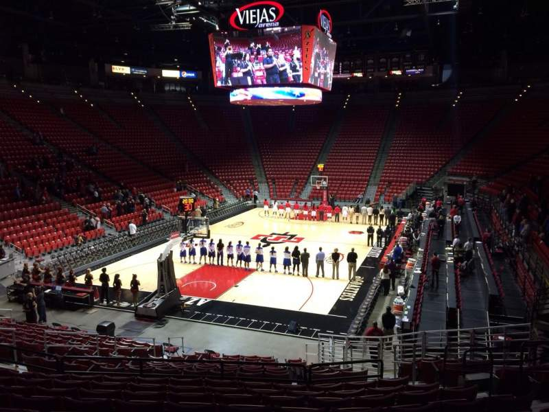 Seating view for Viejas Arena Section M Row 19 Seat 7