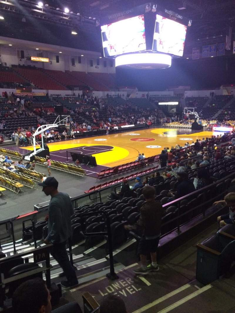 Valley View Casino Center, section: L17a, row: 4, seat: 3