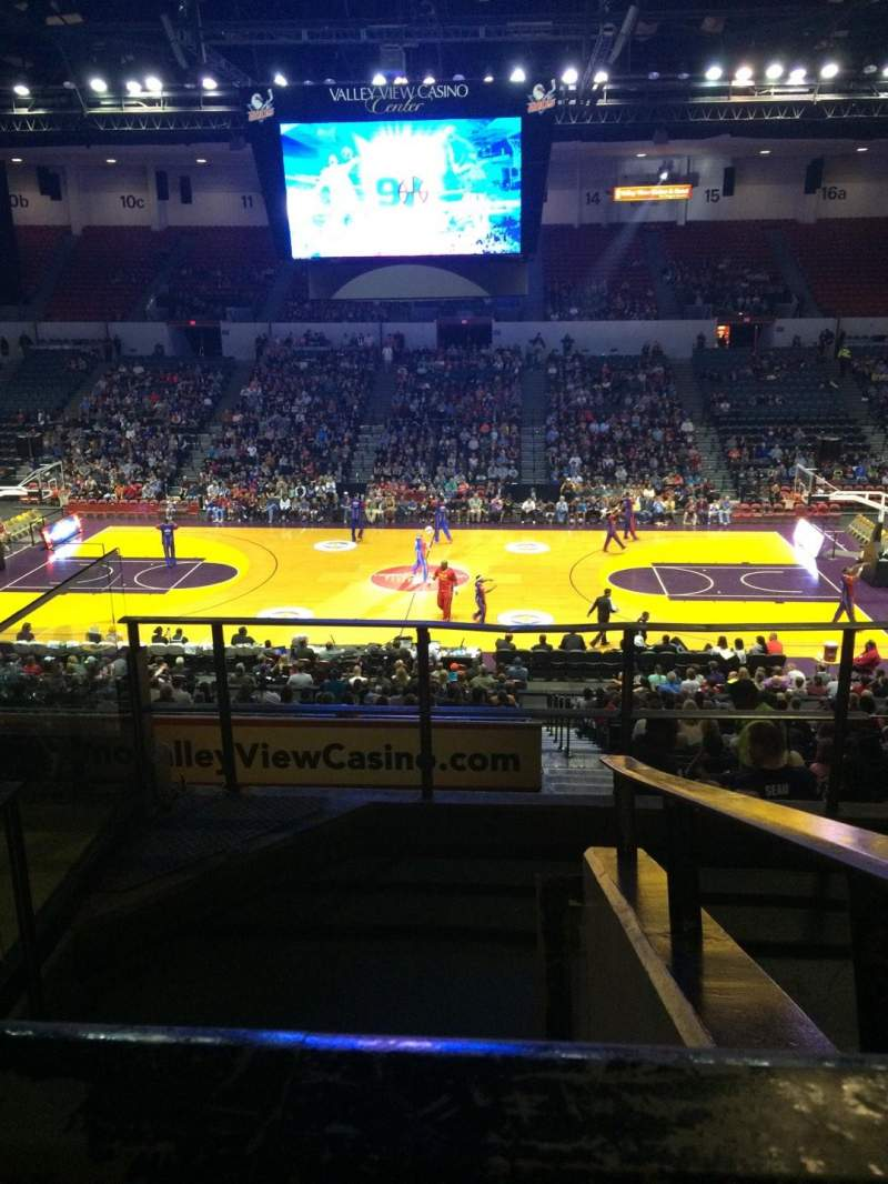 Seating view for Valley View Casino Center Section T1 Row 5 Seat 1