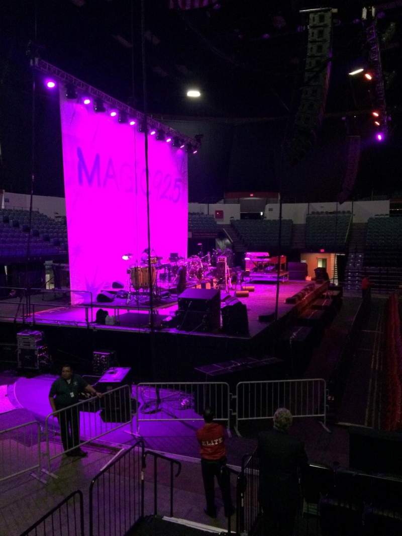 Seating view for Valley View Casino Center Section L3 Row 1 Seat 11