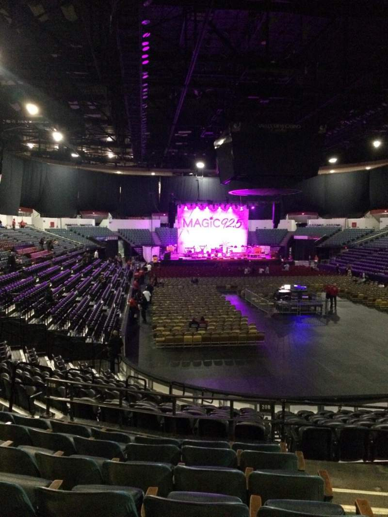Seating view for Valley View Casino Center Section L20b Row 7 Seat 2