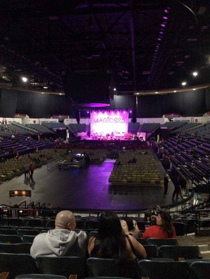 Seating view for Valley View Casino Center Section L18b Row 8 Seat 3