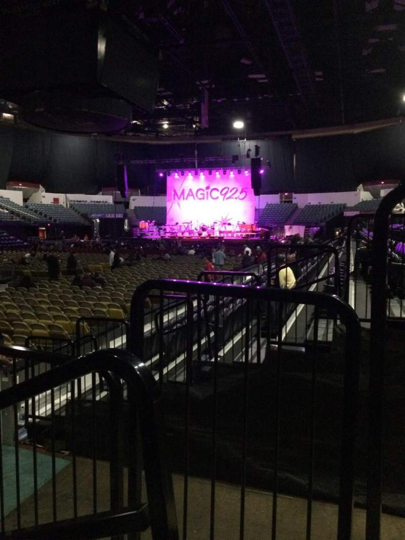 Seating view for Valley View Casino Center Section LL17 Row 6 Seat 1